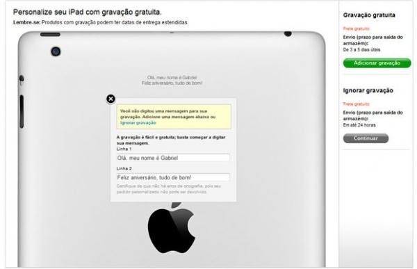Apple lança no Brasil gravação a laser gratuita na parte traseira do iPad