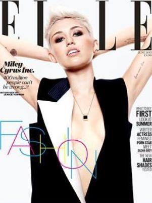 Com decote ousado, Miley Cyrus estampa capa da