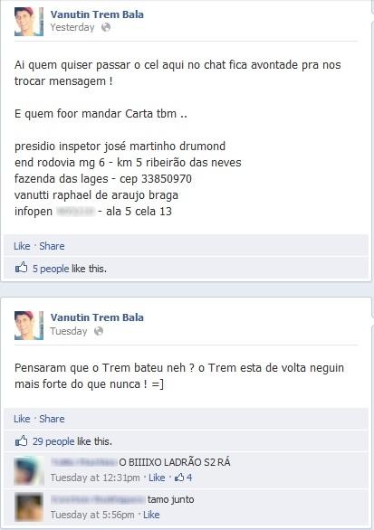 Presidiário usa perfil no Facebook e desafia direção de cadeia
