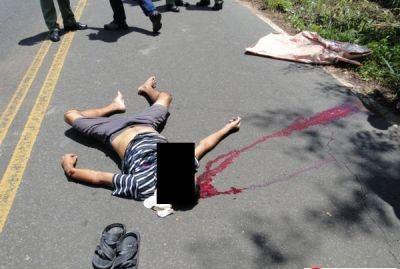 Homem é esmagado ao se jogar na frente de veículo no Piauí