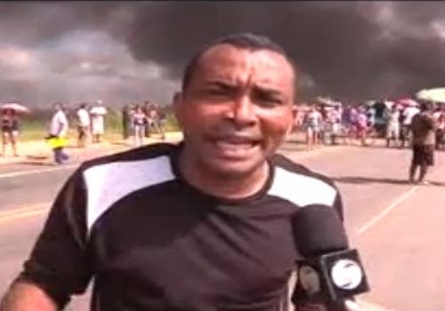 Manifestantes queimam pneus e interrompem fluxo na BR-316