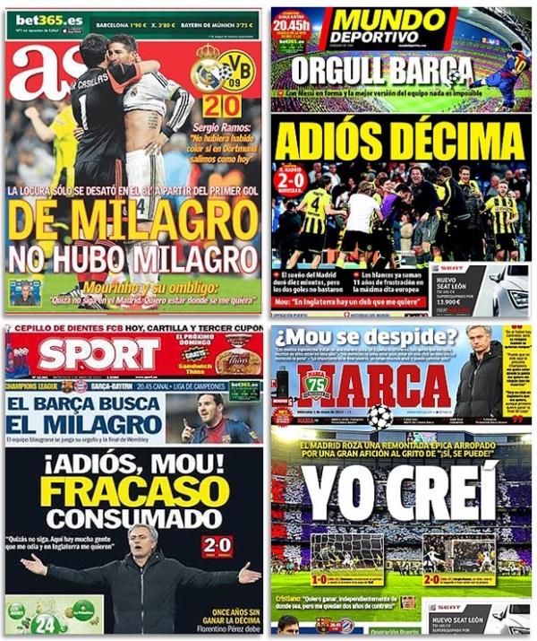 Jornais espanhóis destacam possível saída de Mourinho do Real