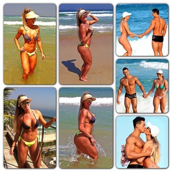 Julu Salimeni posta foto de biquíni em momento férias com o namorado Felipe Franco
