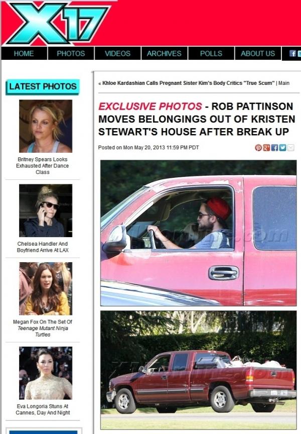 Robert Pattinson se muda da casa de Kristen Stewart e leva o cachorr