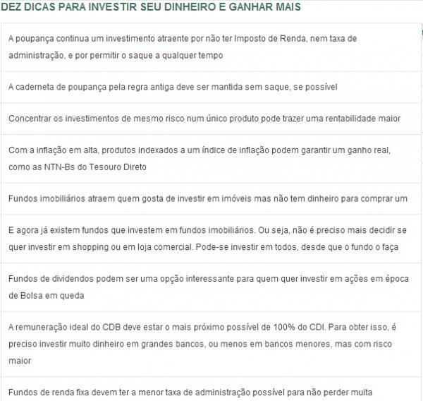 Brasileiro não sabe investir além da poupança, diz professor; veja dicas