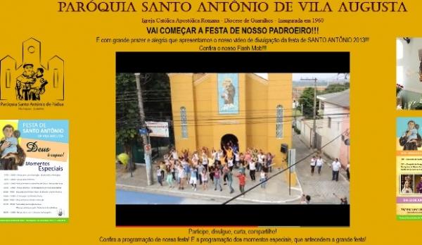 Padre faz flash mob inspirado em Psy para divulgar festa de Santo Antônio