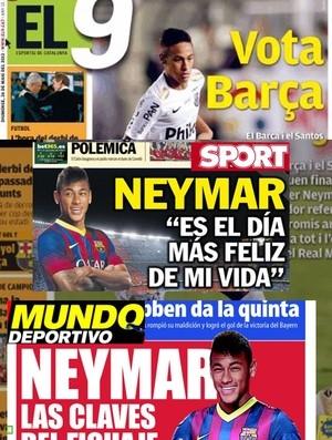 Contratação de Neymar pelo Barça  é destaque nos jornais espanhóis