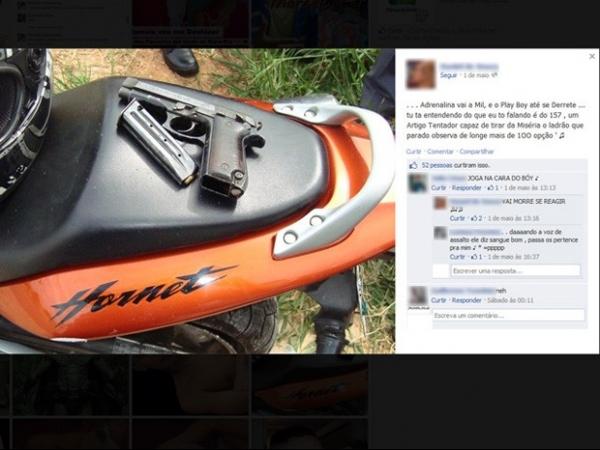 Menores são investigados por fotos em que aparecem com armas no Facebook