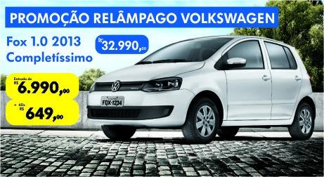 Promoção relâmpago Volkswagen: Fox 1.0 com entrada de R$ 6.990 e mais parcelas de R$ 649,00