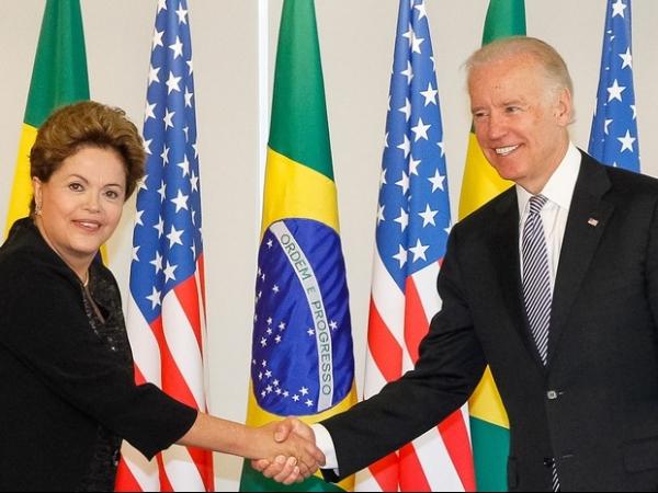 Vice dos EUA se reúne com Dilma em Brasília