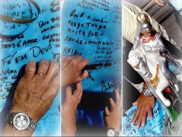 ONG cria bandeirão do Papa e sonha com recorde para o Guinness Book