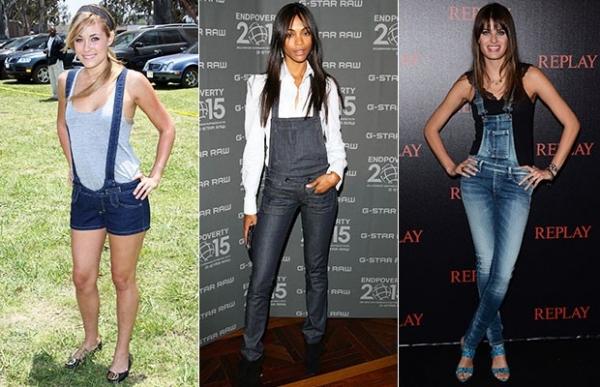 Clássico macacão jeans não sai do guarda-roupa de famosas