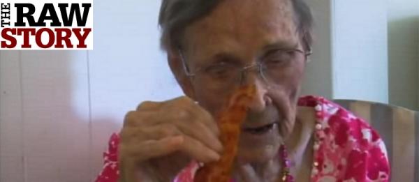 Idosa de 105 anos diz que bacon é o segredo da longevidade