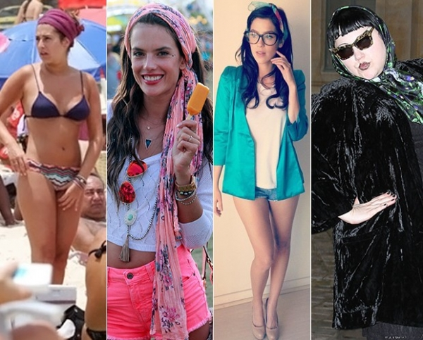 Com estilo Katie Holmes, Rihanna e outras  incrementam looks com lenços