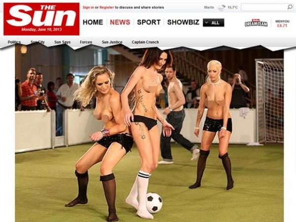 Europeias disputam 1° Campeonato Nu de futebol na Alemanha; veja fotos