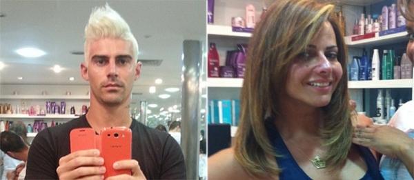Com a namorada Viviane Araujo, Radamés muda o visual e cutuca Belo