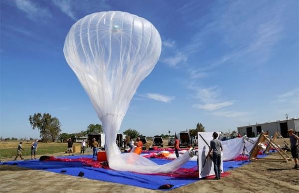 Projeto do Google usa balões para levar internet a áreas remotas