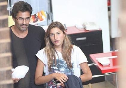 Sasha quer morar nos EUA com o pai, Luciano Szafir