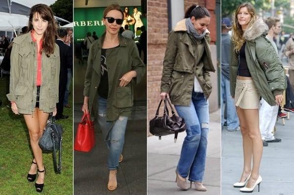 Demi Lovato, Katie Holmes e mais famosas usam casaco no estilo militar