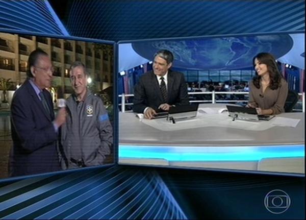 Bonner comete gafe no JN ao elogiar narração que Galvão Bueno não fez