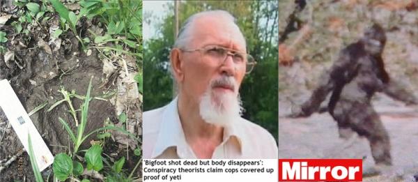 Pé-Grande é morto nos Estados Unidos, mas cadáver desaparece