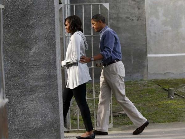 Família Obama visita local em que Mandela esteve preso por 18 anos