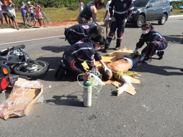 Homem sofre acidente de moto ao tentar desviar de animal e acaba morrendo