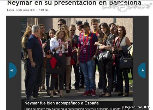 No dia de Neymar, Marquezine foi a sensação da imprensa europeia