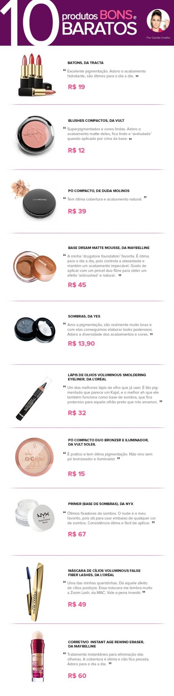 Batom, blush e rímel! Blogueira dá dicas de produtos bons e baratos