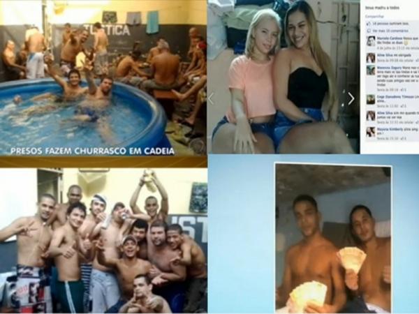 Presos fazem festa em presidios e ainda postam no Facebook; veja as fotos