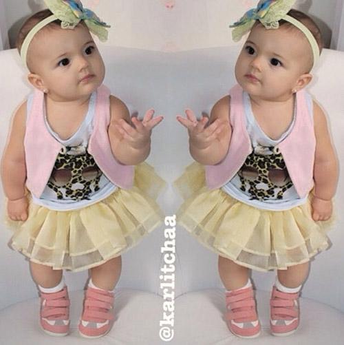 Ela já é It Girl! Com apenas 8 meses, filha da ex-BBB Karla faz sucesso ao mostrar looks na web