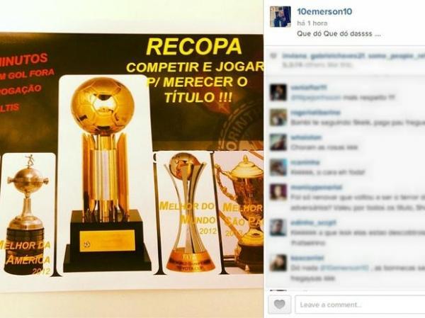Emerson Sheik ironiza após vencer o São Paulo na Recopa: ?que dó