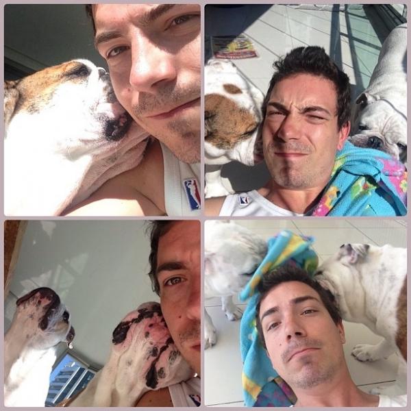 Di Ferrero posta foto com cachorros:
