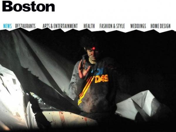 Policial divulga fotos de suspeito de Boston em resposta à revista