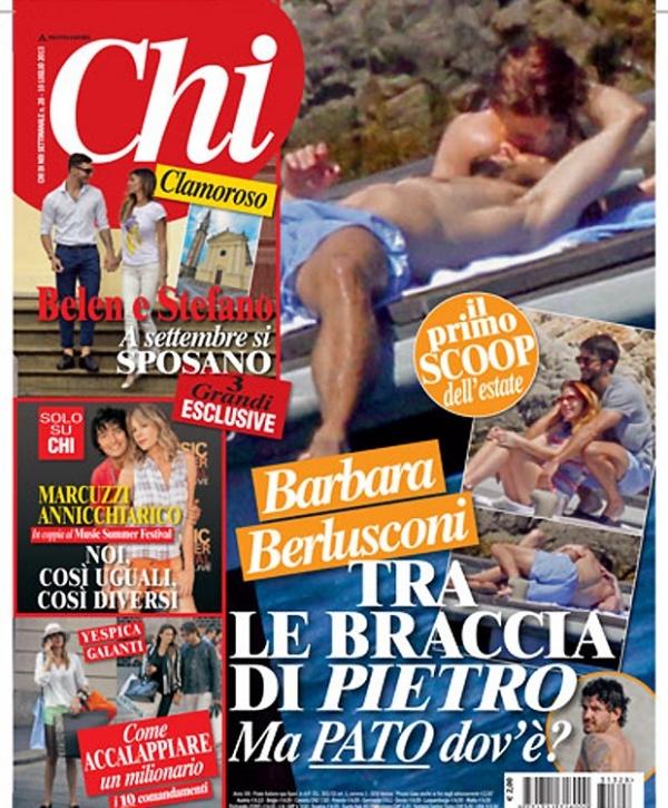 Adeus, Alexandre Pato! Revista publica fotos de Barbara Berlusconi com funcionário da família