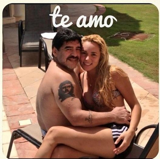 Maradona engravida mulher mais nova do que própria filha