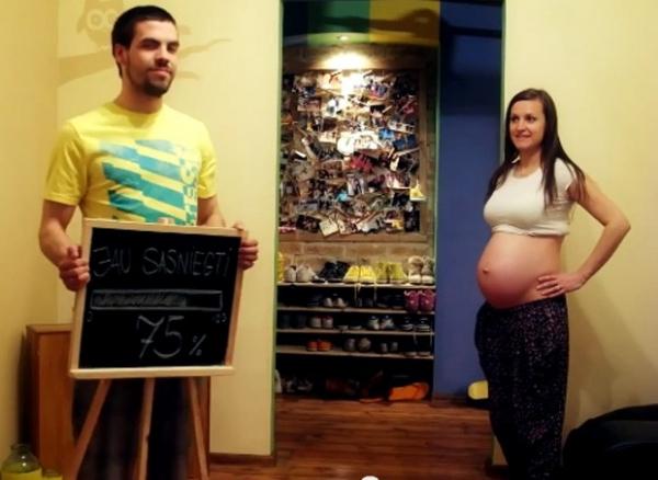 Fotógrafo faz animação com fotos da gravidez da esposa e vídeo vira hit