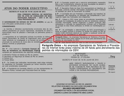 Sérgio Cabral manda modificar decreto que previa quebrar sigilo