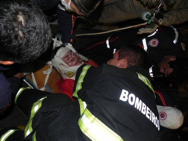 Acidente deixa vítima com suspeita de traumatismo craniano