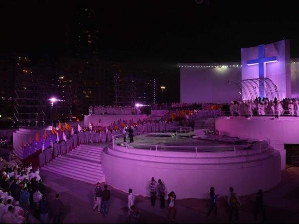 Papa Francisco visita favela no Rio de Janeiro e fecha o  dia no palco da Jornada Mundial da Juventude