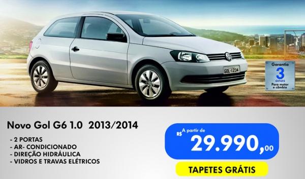Volkswagen do Brasil realiza mega promoção e vende Gol 0km 2014 com parcelas de R$ 399,00