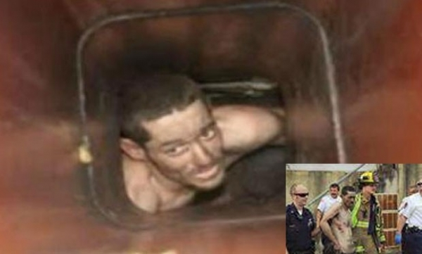 Ladrão fica entalado em chaminé ao tentar invadir loja nos EUA e vai preso