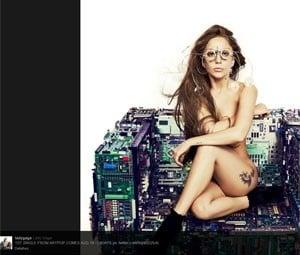 Lady Gaga volta ao Twitter e posta foto nua para promover novo single