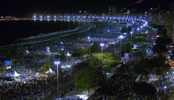 Papa Francisco diz que mudança de eventos de Guaratiba para Copacabana pode ser recado de Deus