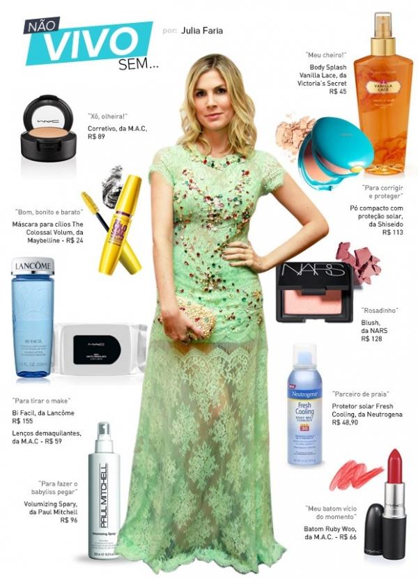 Julia Faria lista dez cosméticos favoritos: