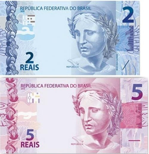 Novas cédulas de R$ 2 e de R$ 5 terão uma camada protetora contra sujeira