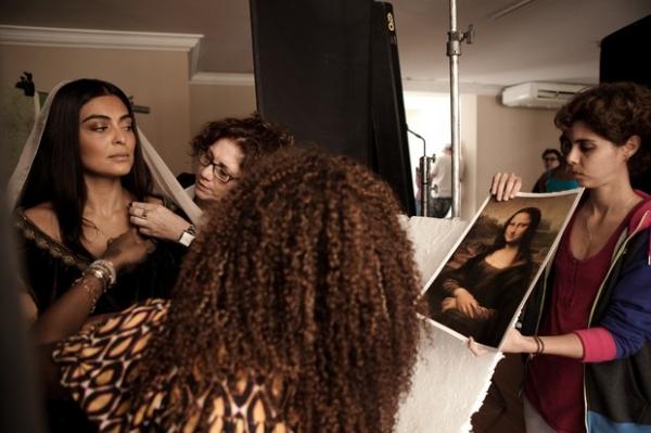 Juliana Paes vira pintura inspirada em Monalisa em novo filme
