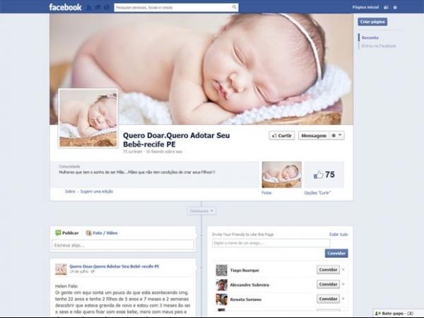 Polícia de PE apura denúncia de venda de bebês pela internet