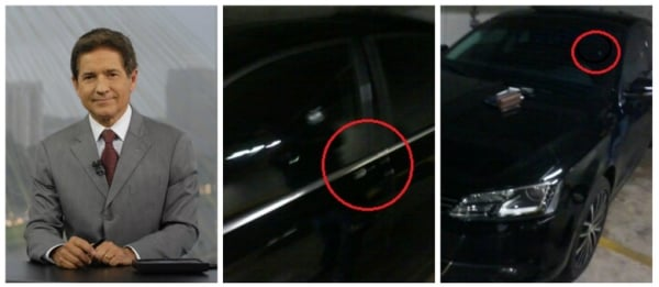 Carro blindado salvou a vida de apresentador da TV Globo que poderia ter levado dois tiros