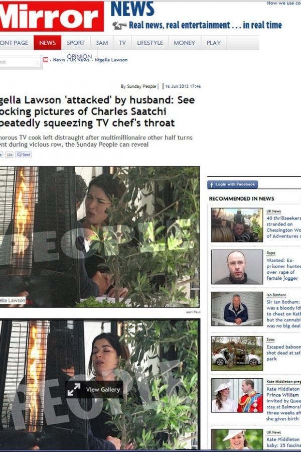 Depois de agressão, marido de Nigella anuncia divórcio